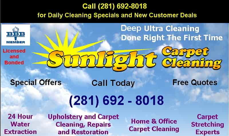 Pearland Clear Lake South Houston home carpet cleaning